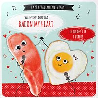 Paperlink Bacon My Heart Valentine's Day Card