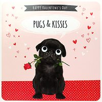 Paperlink Pugs And Kisses Valentine's Day Card