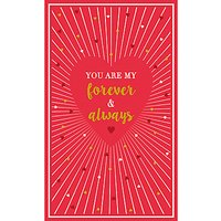 Art File Forever And Always Valentine's Day Card