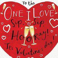 Cardmix Sip Sip Hooray Valentine's Day Card