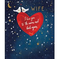 Woodmansterne Moon And Back Valentine's Day Card