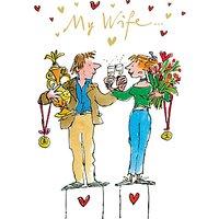 Woodmansterne Three Cheers Valentine's Day Card