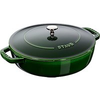 STAUB Round Cast Iron Saute Pan with Chistera Lid, 24cm