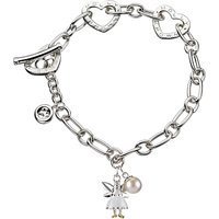 Molly Brown London Sterling Silver Fairy Wish Bracelet, White