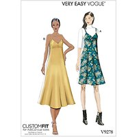 Vogue Women's Slip Dress Sewing Pattern, 9278