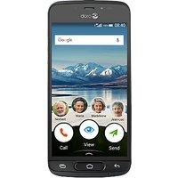Doro 8040 Smartphone, 5, 4G, 16GB, SIM Free, Black