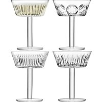 LSA International Tatra Champagne/Cocktail Glasses, 250ml, Assorted, Set of 4