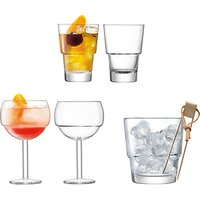 LSA International Mixologist Cocktail Glasses and Ice Set, 5 Pieces