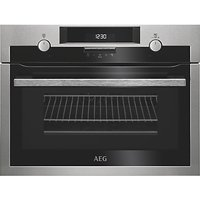 AEG KME561000M CombiQuick Compact Built-In Oven with Microwave, Stainless Steel