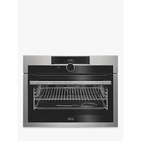 AEG KPE842220M Built-In Compact Single Oven, Stainless Steel