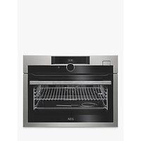 AEG KSE882220M Built-In Compact Single Oven with Steam, Stainless Steel