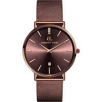 Abbott Lyon Unisex Stellar 34 Date Mesh Bracelet Strap Watch, Mocha