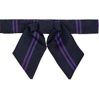 Chigwell School Stuarts House Bow Tie, Navy/Purple