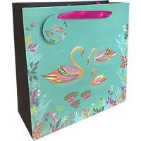 Sara Miller Swans Large Gift Bag, Green