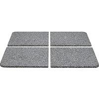 John Lewis Parasol Base Weight Slabs, Granite, Set of 4, 40kg