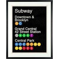 Erin Clark - Subway Poster Framed Print, 61 x 51cm