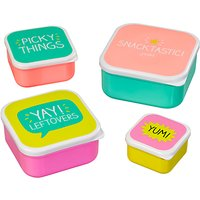 Happy Jackson Snacktastic Lunch Boxes, Set of 4