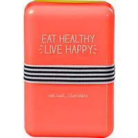 Happy Jackson Eat Healthy Live Happy Lunch Box, Red