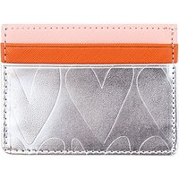 Caroline Gardner Embossed Card Holder, Silver