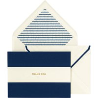 Kate Spade New York Stripe Thank You Cards, Pack Of 10