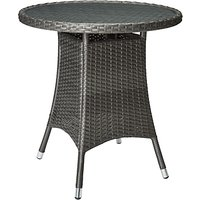 John Lewis Almeria Garden Bistro Table, Grey