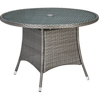 John Lewis Almeria Garden 4 Seater Dining Table, Grey
