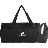 Adidas Convertible 3-stripes Duffle Bag, Large, Black