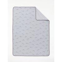 John Lewis Baby Zebra Swaddle Blanket, Grey