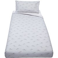 John Lewis Baby Zebra Duvet Cover and Pillowcase Set, Grey