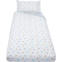 John Lewis & Partners Baby Safari Cot Duvet Cover and Pillowcase Set, Multi