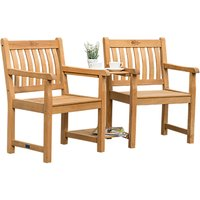 KETTLER RHS Chelsea Garden Companion Seat, Natural, FSC-Certified (Acacia Wood)