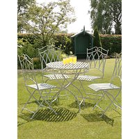 Suntime Gloucester 4 Seater Garden Dining Table and Chairs Set, White