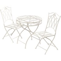 Suntime Gloucester 2 Seater Garden Bistro Dining Table and Chairs Set, White