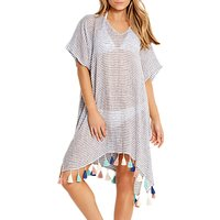 Seafolly Linen Stripe Kaftan, Chambray