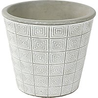Ivyline Salerno Indoor Planter, White