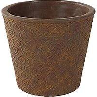 Ivyline Salerno Indoor Planter, Rust