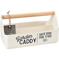 Burgon & Ball Enamel Garden Caddy, Cream