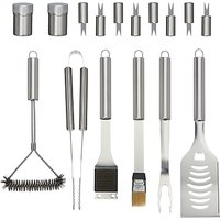 John Lewis Stainless Steel BBQ Tool Set in Case, 24 Pieces
