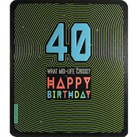 Art File What Mid Life Crisis 40th Birthday Card