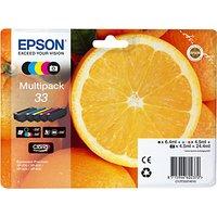 Epson Oranges T3337 Inkjet Printer Cartridge Multipack, Pack of 5