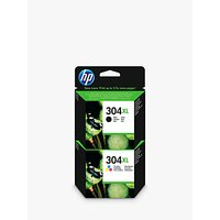 HP 304 XL Ink Cartridge Black & Tri-Colour Multipack, Pack Of 2