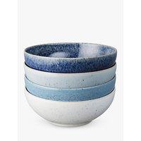Denby Studio Blue Cereal Bowls, Chalk/Blue, Dia.17cm, Set of 4