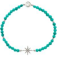 Melissa Odabash Turquoise Crystal Star Stretch Bracelet, Blue/Silver
