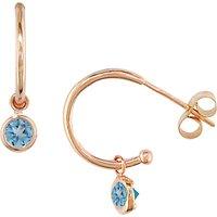 London Road 9ct Rose Gold Pimlico Dew Drop Hoop Earrings