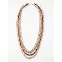 John Lewis Long Faux Pearl and Glass Crystal Layered Necklace, Multi