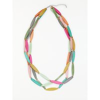 One Button Triple Layer Necklace, Multi