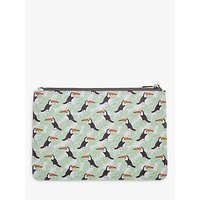 FENELLA SMITH | Fenella Smith Toucan and Palm Print Clutch Bag | Goxip