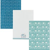 John Lewis Fusion Elephants Tea Towels, Assorted, Pack of 3