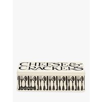 Emma Bridgewater Knives & Forks Cheese and Cracker Tin, White/Black
