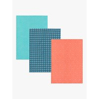 John Lewis Fusion Geometric Print Tea Towels, Assorted, Pack of 3